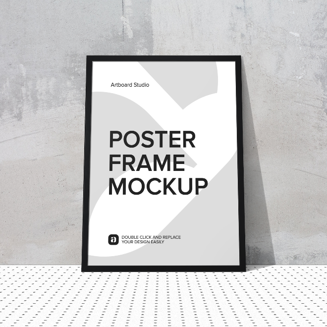 Poster Frame Mockup Scene