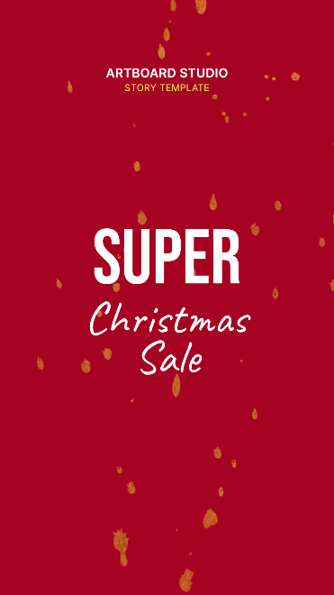 Animated Christmas Sale Instagram Story Template