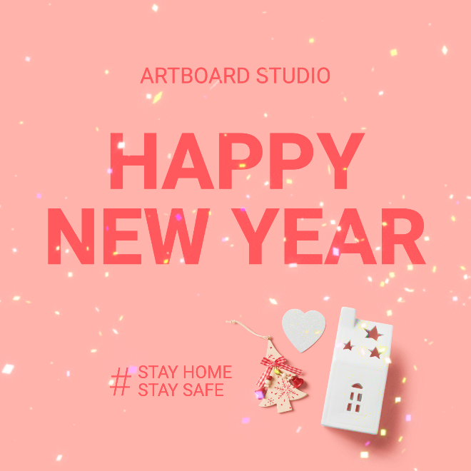 New Year Animated Instagram Post Template