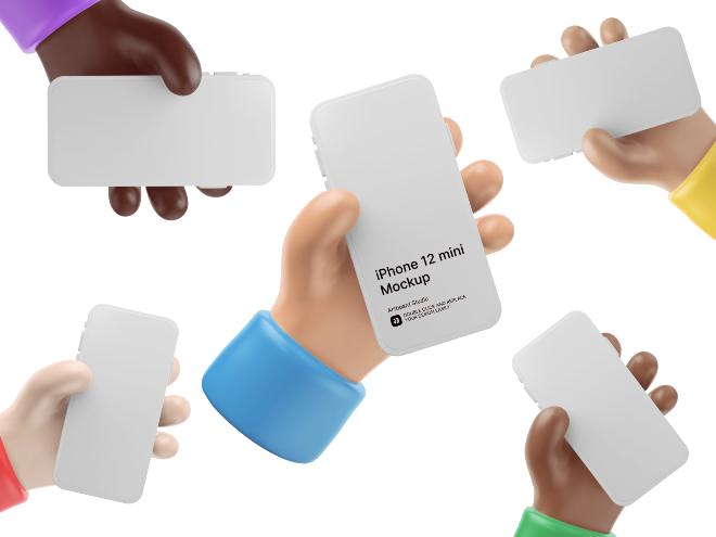 3D iPhone 12 Mockup