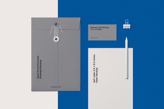 Simple Branding Stationery Mockup Scene