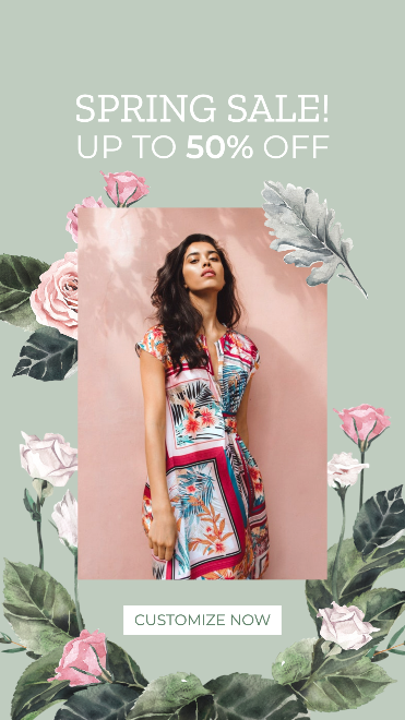 Watercolor Spring Sale Instagram Story Template