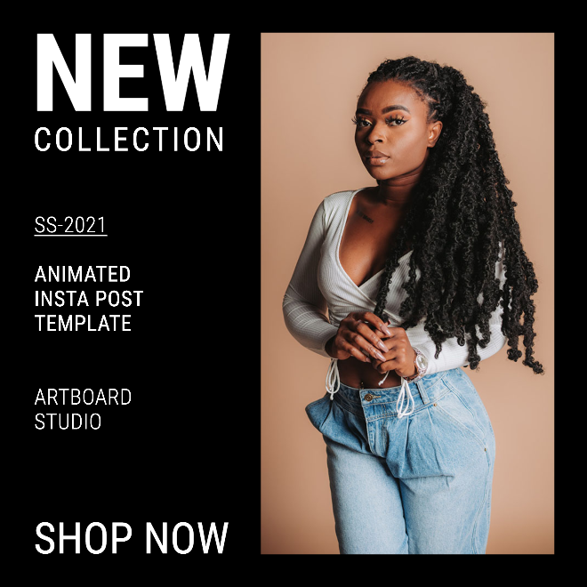 Animated Fashion Instagram Post Template