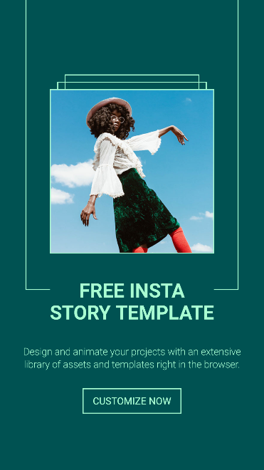 Free Animated Simple Lined Instagram Story Template
