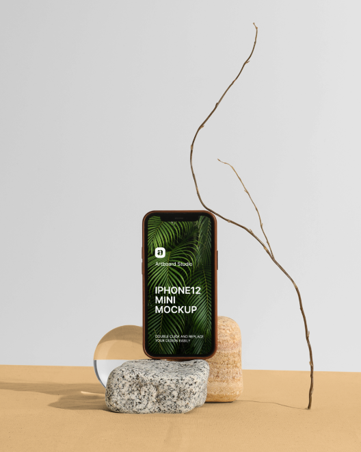 Free Still Life iPhone Mockup Template