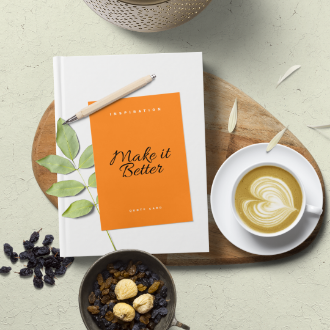 Book and Paper Composition Mockup Scene for Instagram