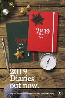 2019 Diary Mockup Scene