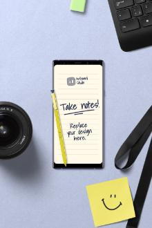Galaxy Note9 Mockup Scene