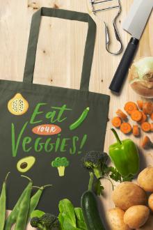 Kitchen and Vegetables Mockup Scene