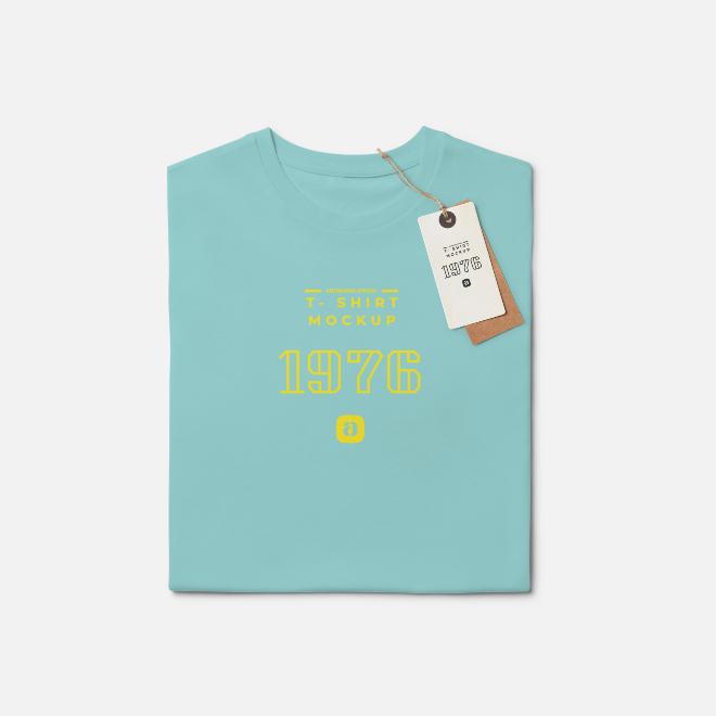 T-Shirt Mock-Up Scene