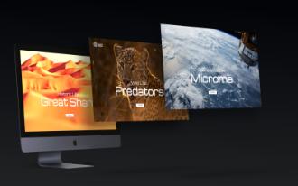 iMac Multiple Screens Mockup Scene