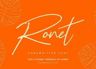 Ronet Handwritten Font