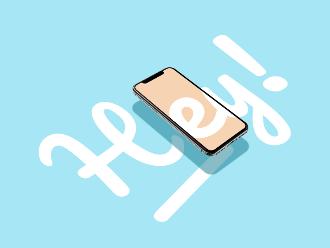 iPhone X for Dribbble Mockup Scene