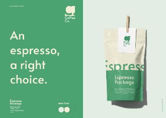 Coffee Package Presentation Scene