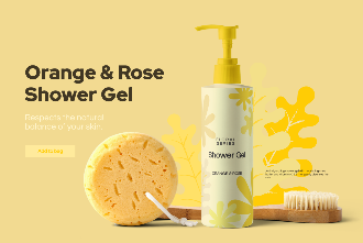 Shower Gel Package Mockup Scene