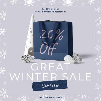 Winter Sale Social Template