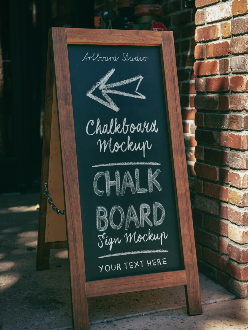 Chalkboard Stock Mockup