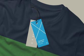T-shirt And Labels Mockup Scene
