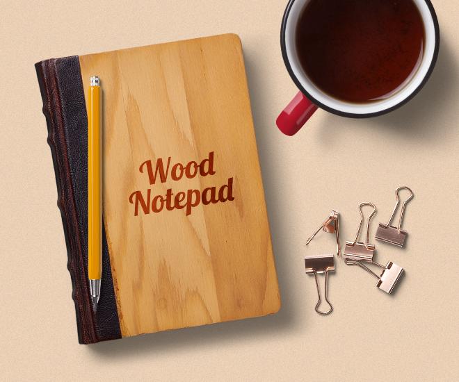 Notebook Mockup Scene