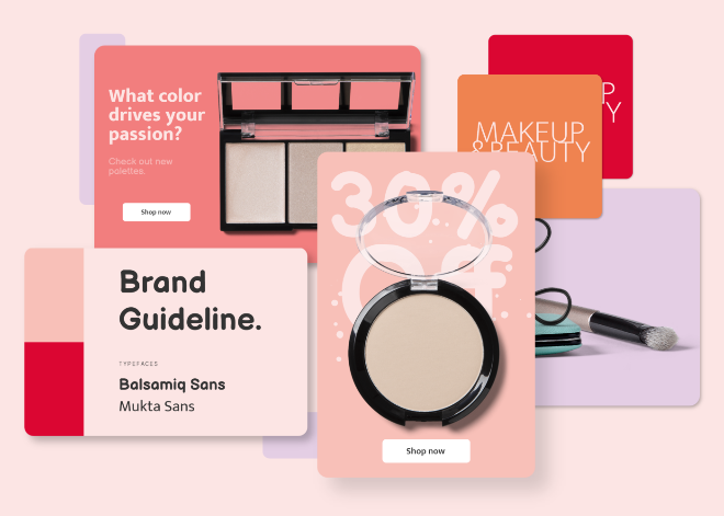 Cosmetic Brand Guide Mockup Scene