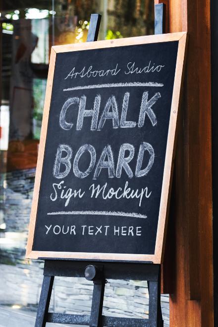 Chalkboard Mockup Scene