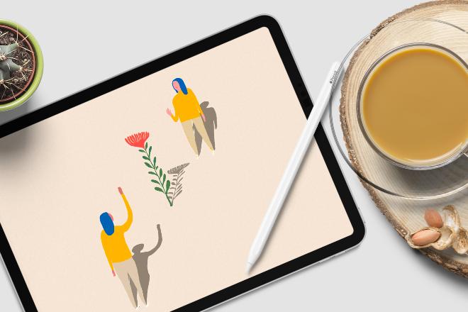 iPad Pro Moclup Scene