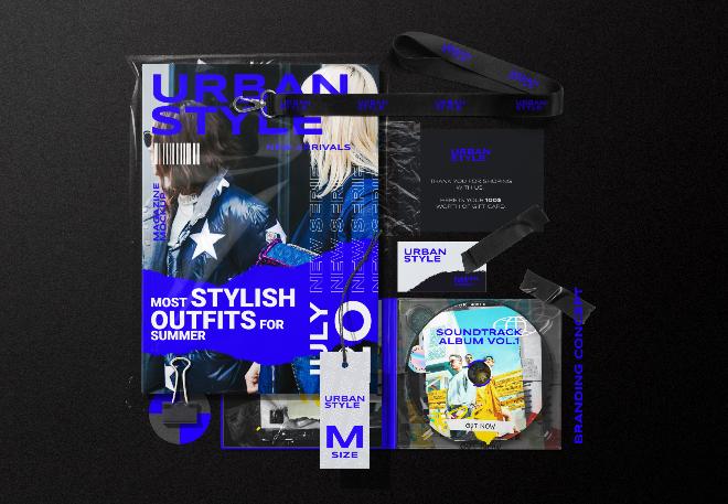 Concept Branding Identity Mockup Scene
