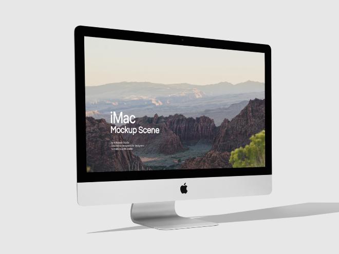 iMac Mockup Scene