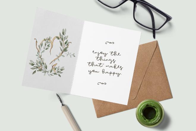 Envelope and Note Card Mockup Scene