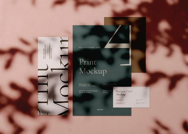 Print Mockup Scene