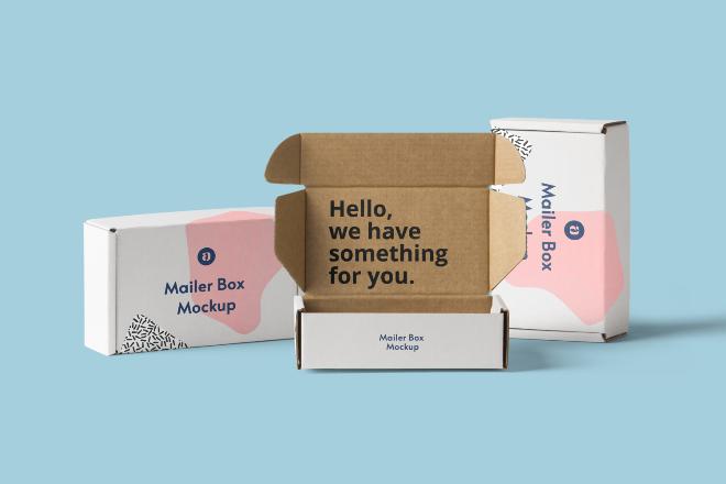 Mailer Box Mockup Scene