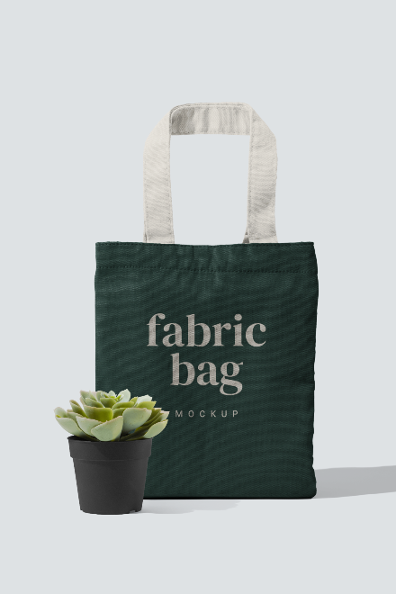 Fabric Bag Mockup Scene