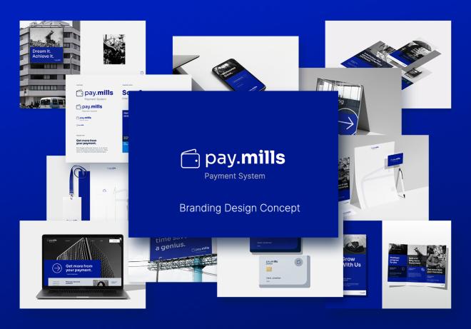 Pay.mills Branding Design Concept