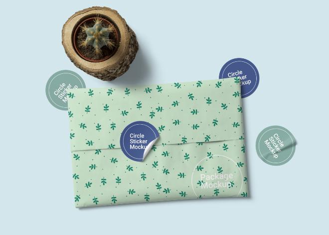 Tissue Package Mockup Scene