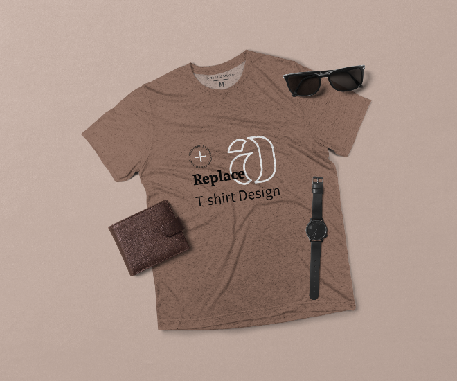 Men's Tri-blend T-Shirt Mockup Scene