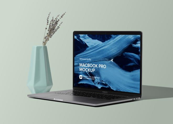 Macbook Pro Mockup Scene