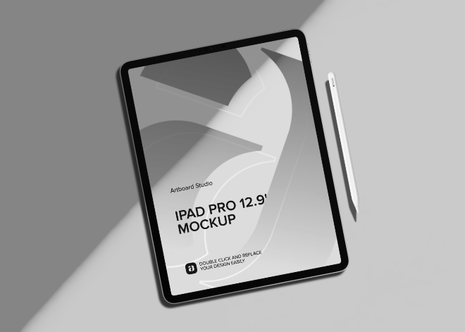 iPad Pro 12.9' Mockup Scene