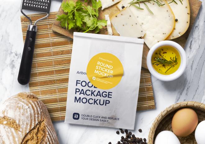 Food Packaging Mockup Scene