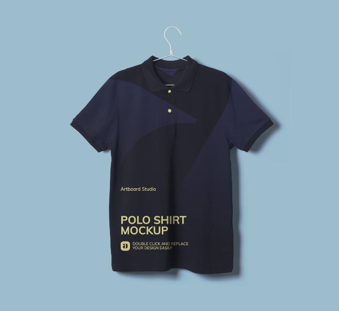 Polo T-Shirt Mockup Scene