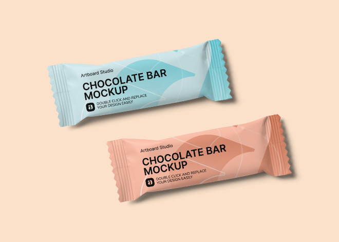 Chocolate Bar Mockup Scene