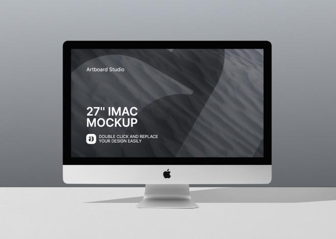 27'' iMac Mockup Scene