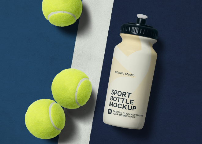 Sport Bottle Mockup Scene