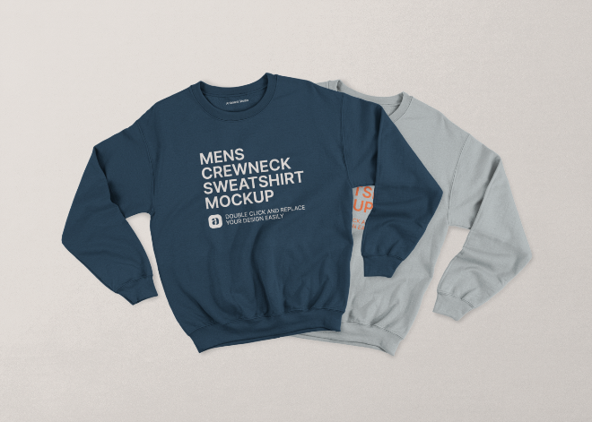 Mens Crewneck Sweatshirt Mockup Scene