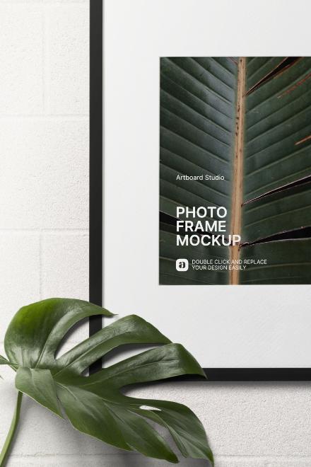 Photo Frame Mockup Scene