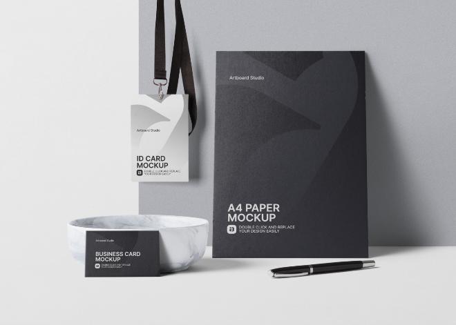 Branding Print Mockup Scene