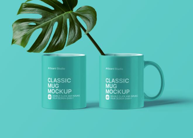 Classic Mug Mockup Scene