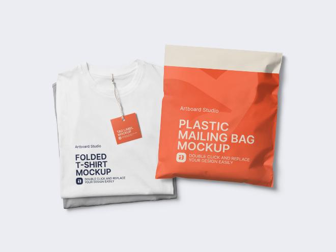 T-shirt Delivery Mockup Scene