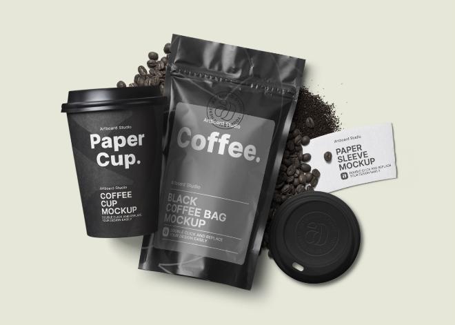 Coffee Packaging Mockup Template