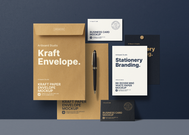 Corporate Stationery Branding Identity Mockup Template