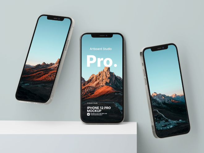 iPhone 12 Pro Mockups Template